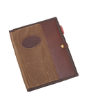 The Padfolio by Frost River is made in America out of waxed canvas, premium leather, and solid brass hardware.