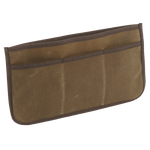 This insert will fit well into a briefcase to add organization to your pack. The long slip sleeve and 3 smaller slip sleeves can house important documents and charging cords. The Insert Organizer is made in America and crafted from waxed canvas.