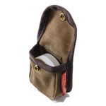The Canvas Belt Pouch perfectly houses the Frost River Arctic Fox Sharpening Puck.
