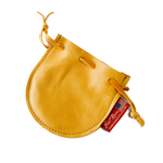 The Buckskin Drawstring Pouch in the color Palamino is made of deerskin and is durable and classic.