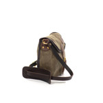 This item uses waxed canvas, premium leather, and solid brass hardware to make it durable and strong.