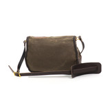 The leather strap has a shoulder pad for added comfort and stability.