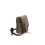 The waxed canvas, premium leather, and solid brass hardware make this bag durable and strong.