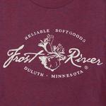 Distressed Logo T-shirt, Tri-Cranberry