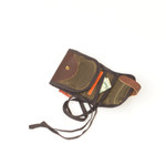 The solid brass hardware, leather, and waxed canvas make this product strong and durable.