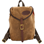 The Mini Knapsack is securely closed with a drawstring and leather buckle. The interior is large enough for a lunch, book, and jacket, perfect for a light daypack.