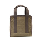The cotton webbed handles, waxed canvas, and leather make this bag durable and strong.