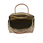 The interior is roomy and has many organizational features to keep you items in order within the tote. This product is made available in two sizes to accommodate the needs of more travelers.