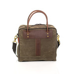 The bridle leather handles are attached to the bag by solid brass hardware and sure to last for years to come.