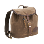 The Double Growler Pack has a foam divider to keep the bottles from clanking together. This bag is also made of waxed canvas, premium leather, solid brass hardware, foam cushioning, and webbed cotton. This item is proudly made in the USA.