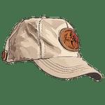 Natural, Leather Logo Cotton Cap