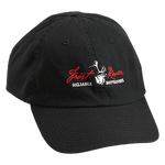 Black, Embroidered Logo Cotton Cap