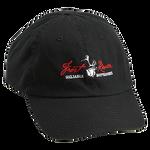 Black, Embroidered Logo Cotton Cap