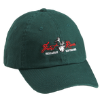 Green Embroidered Logo Cotton Cap
