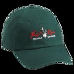 Green Embroidered Logo Cotton Cap