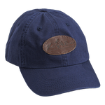 Navy, Embroidered Logo Cotton Cap