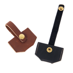 Both of these options have a solid brass snap to secure its contents. This product is made in Duluth, MN.