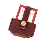 The Micro Wallet in Boomer Brown by Frost River is made in the USA. The premium leather and solid brass hardware are built to last.