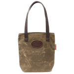 Waxed Canvas Simple Tote, Field Tan, Front. This tote is made in America at Frost River by artisans.