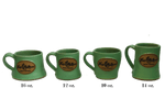 Duluth Pottery Handcrafted Mugs for Frost River, Matte Green Set
