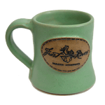 Duluth Pottery Handcrafted Mug for Frost River, Matte Green Single