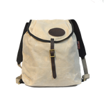 Frost River Rucksack, Front. Natural colored Heavyweight waxed canvas.