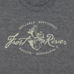 Tri-Grey Women's Frost River Distressed Logo T-shirt.