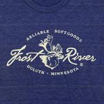 Tri-Indigo Women's Frost River Distressed Logo T-shirt.