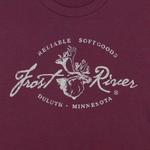 Tri-Maroon Women's Frost River Distressed Logo T-shirt.