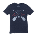 Frost River Made in USA Navy Crossed Paddles T-shirt.