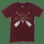 Men's Burgundy Frost River Crossed Paddles T-Shirt.