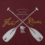 Made in USA t-shirt, Frost River Crossed Paddles Logo