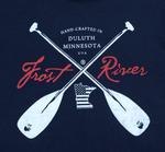 Navy Crossed Paddles Logo T-Shirt.