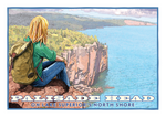 Palisade Head Postcard Front, illustrated by Duluth's Rick Kollath