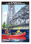 Aerial Lift Bridge Postcard Front, illustrated by Duluth's Rick Kollath