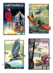 4 Pack of Greeting Cards, Vertical Orientation
