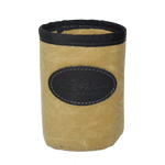 Crowler Can Insulator, Black and Tan waxed canvas Can Insulator.