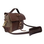 Naturalist Baggley Brief side, premium, durable leather shoulder strap included.