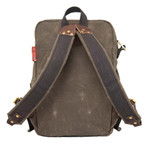 The Devil's Kettle Daypack has canvas padded straps and is sized to be a smaller daypack in the Frost River line.