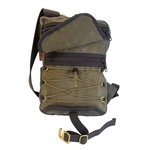 Jacy Cooke Sling Pack, Cord and barrel as well as two external zippered pockets help keep items organized.