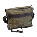 The main compartment has a zippered closer and offers a fullwidth sleeve at the back and organizer panel at the front.