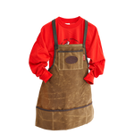 The Shop Apron is made in Duluth, MN by Frost River. This product is made with the highest of quality materials and will last for years to come.