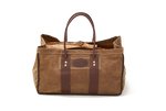 No.605 Birchbark GDT Log Bag, Waxed Canvas with premium leather detailing and rolled leather handles.