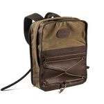 The Premium Itinerant Daypack has a padded sleeve for a laptop and premium leather on the front of the pack. This item is also available in heritage black for a sleek and sophisticated look.