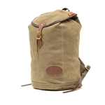 The Summit Pack is crafted in Duluth, MN and made of premium materials including waxed canvas, premium leather, and solid brass.