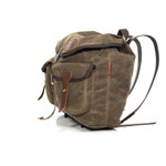 This American crafted bag is secured by a drawstring and large flap top with a leather strap to keep the contents of your bag secure and safe.