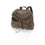 Two functional pockets on the front are secured with quick release Sam Brown Post Brass and are great for items that need to be accessed easily.