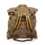 The padded buckskin straps, waist-belt, and tumpline add comfort and options for how to carry this high quality pack.