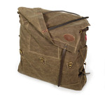 Three leather straps and two waxed canvas flaps keep all of your items inside the bag on your adventure