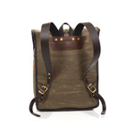 The Straps are made from premium leather and secured to the bag with solid brass hardware. This product is strong, durable, and water resistant.